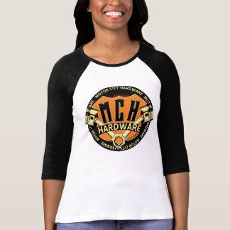 La camiseta de la mujer del hardware de la ciudad