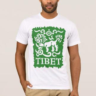 La camiseta de la nieve de los hombres tibetanos
