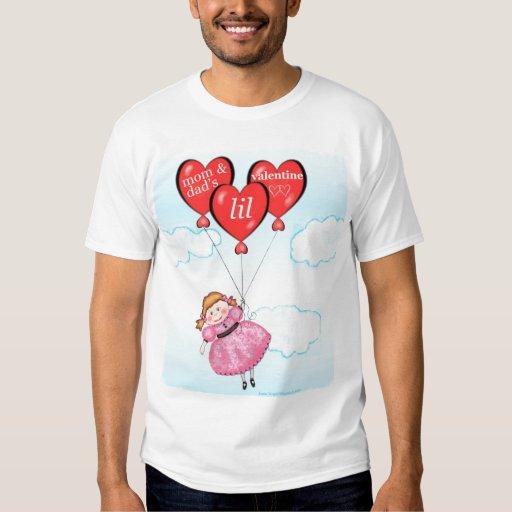 La camiseta de la niña del el día de San Valentín Camisas