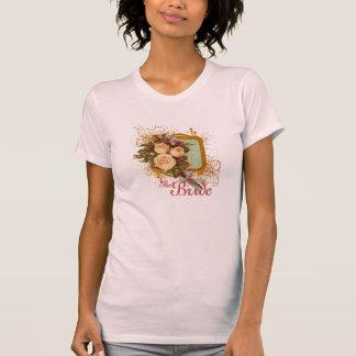 La camiseta de la novia subió Victorian del ramo
