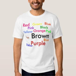 La camiseta de la prueba de Stroop - Monsieur Playera