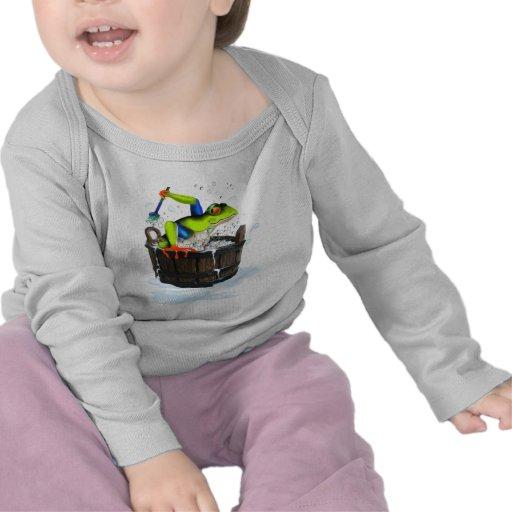 La camiseta de la rana que se lava