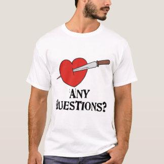 La camiseta de la tarjeta del día de San Valentín