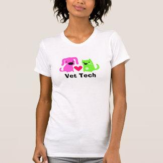 La camiseta de la tecnología del veterinario