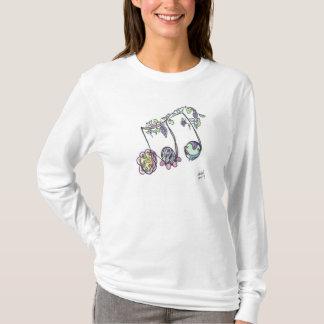 la camiseta de las mujeres:  3 eighths/música