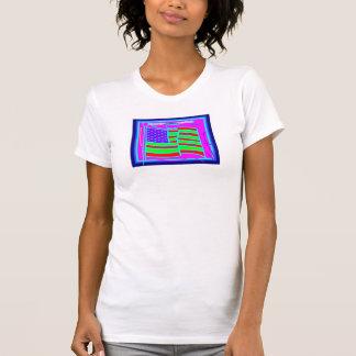 La camiseta de las mujeres, afroamericano