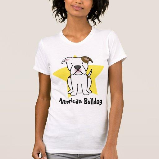 La camiseta de las mujeres americanas del dogo de camisas