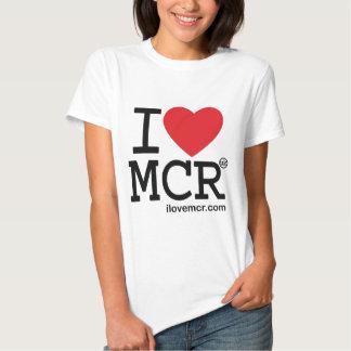 La camiseta de las mujeres - amor Manchester MCR Poleras