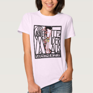 La camiseta de las mujeres: Arte Nouveau - cabaret Polera