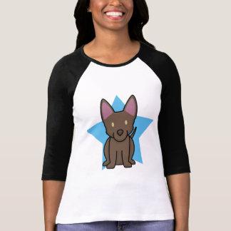 La camiseta de las mujeres australianas del Kelpie