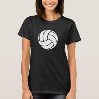 La camiseta de las mujeres blancos y negros