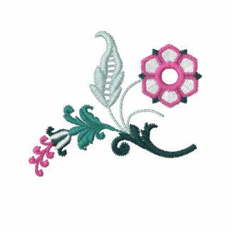 La camiseta de las mujeres bordadas flor