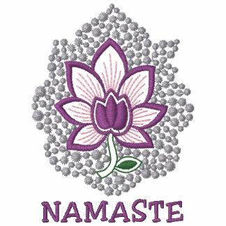 La camiseta de las mujeres bordadas Namaste de la