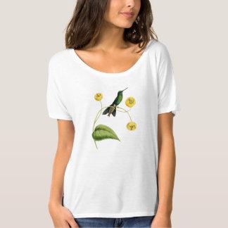 La camiseta de las mujeres brillantes del colibrí