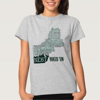 La camiseta de las mujeres caminadas de Nueva Poleras