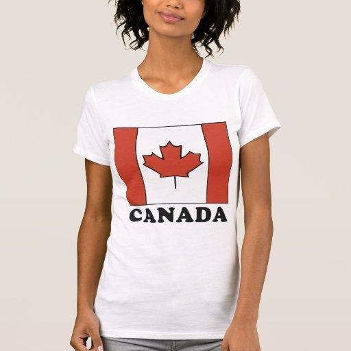 La camiseta de las mujeres canadienses de la bande