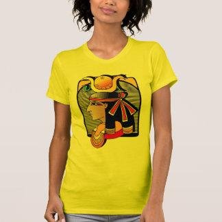 La camiseta de las mujeres coloridas del diseño de