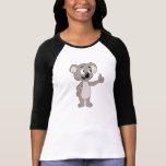 La camiseta de las mujeres con el dibujo animado d
