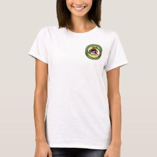 La camiseta de las mujeres con el logotipo que se