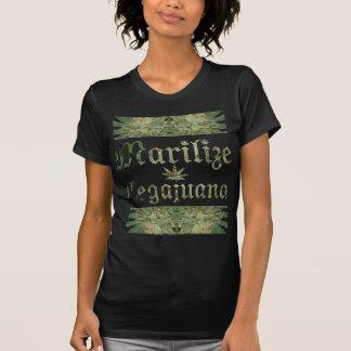 La camiseta de las mujeres cristalinas del brote