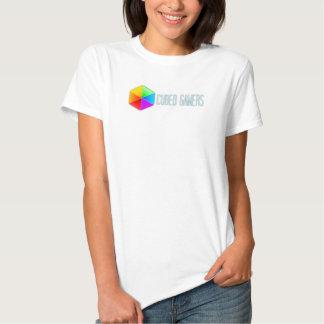 La camiseta de las mujeres cubicadas de los poleras