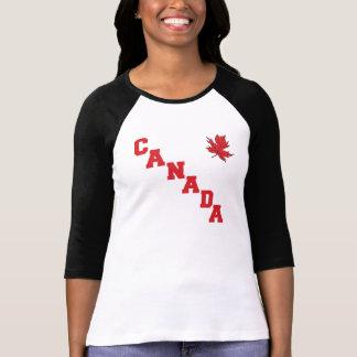La camiseta de las mujeres de Canadá de la hoja de