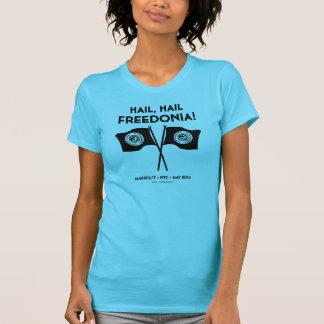 La camiseta de las mujeres de Freedonia (turquesa)