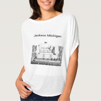 La camiseta de las mujeres de Jackson Michigan Playera