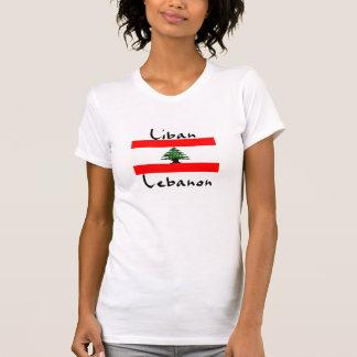 La camiseta de las mujeres de la bandera de Liban