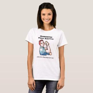 La camiseta de las mujeres de la lanzadera de la