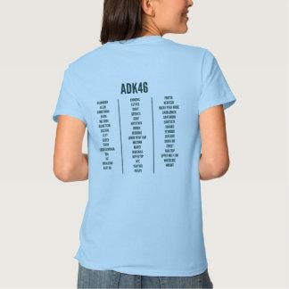 La camiseta de las mujeres de la lista de los camisas