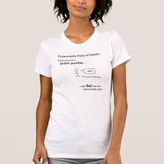 La camiseta de las mujeres de la promesa quebrada playera