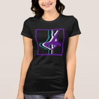 La camiseta de las mujeres de la silueta de la playeras