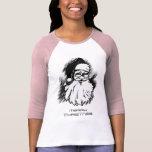 La camiseta de las mujeres de las Felices Navidad