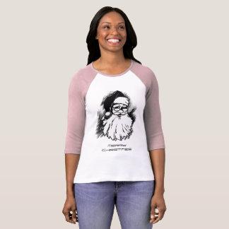 La camiseta de las mujeres de las Felices Navidad Remeras