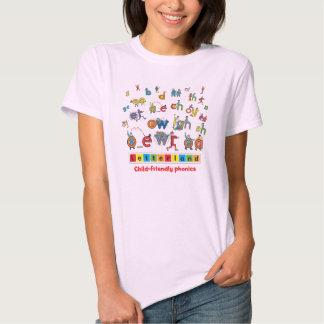 La camiseta de las mujeres de Letterland el | a Poleras