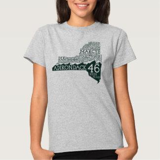 La camiseta de las mujeres de los altos picos de playera