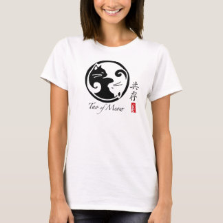 La camiseta de las mujeres de los gatos de Yin
