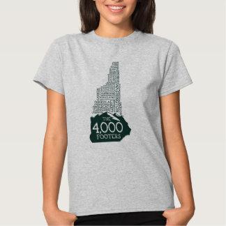 La camiseta de las mujeres de los pies de página remera