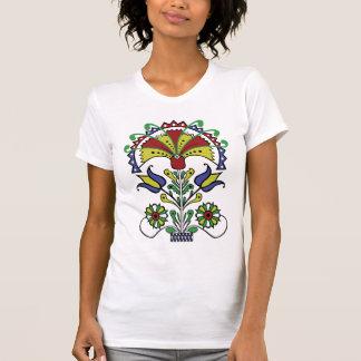 La camiseta de las mujeres de los tulipanes del o