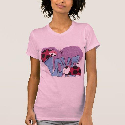 La camiseta de las mujeres de Love~ de la Playera