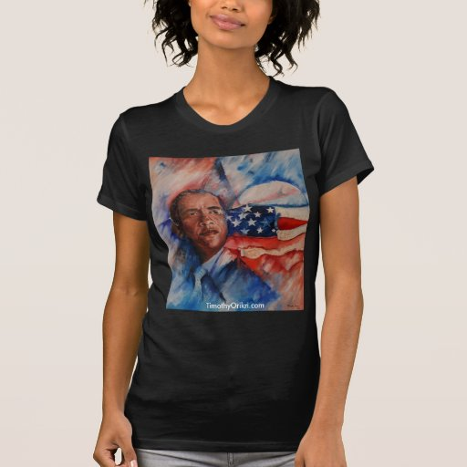 La camiseta de las mujeres de Obama Polera