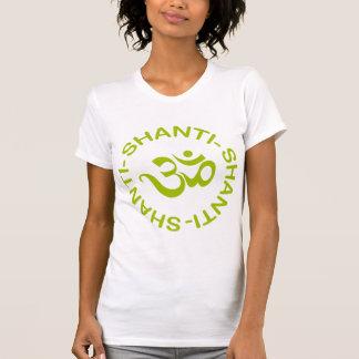 La camiseta de las mujeres de OM Shanti Shanti Sha