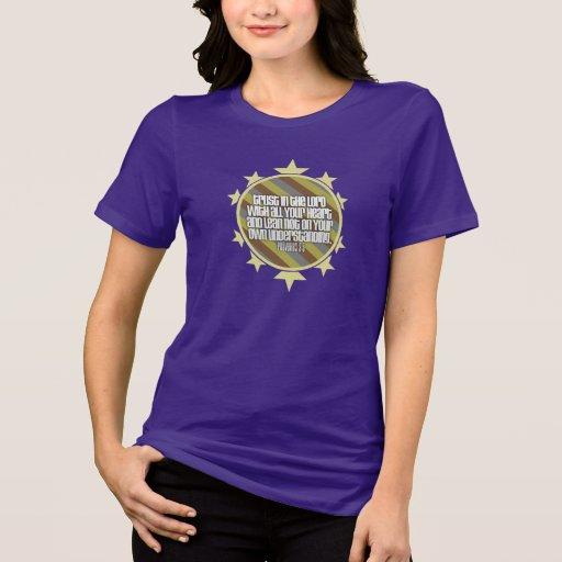 La camiseta de las mujeres del 3:5 de los proverbi playeras