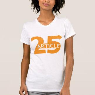 La camiseta de las mujeres del artículo 25 camisas