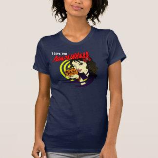 La camiseta de las mujeres del beso de Pumpkinhead
