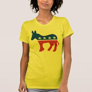 La camiseta de las mujeres del burro de Demócrata