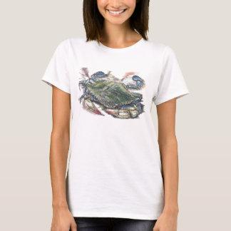La camiseta de las mujeres del cangrejo azul