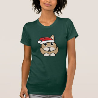 La camiseta de las mujeres del conejo del navidad remera