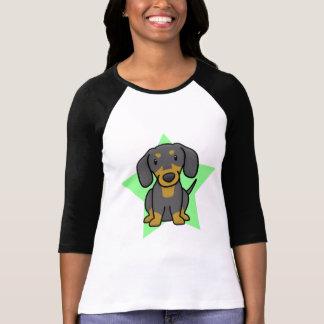 La camiseta de las mujeres del Dachshund de la